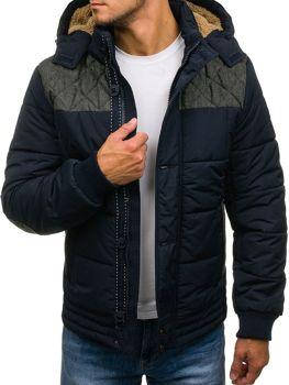 Tmavě modrá pánská zimní bunda z Bolf 3107