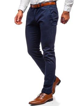 Tmavě modré pánské chino kalhoty Bolf 1143