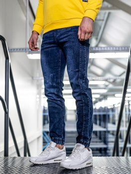 Tmavě modré pánské džínové jogger kalhoty Bolf HY562