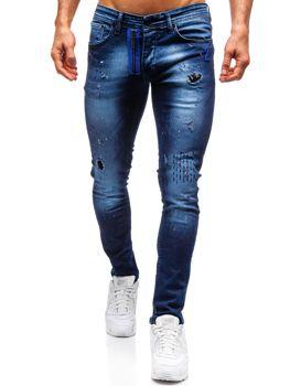Tmavě modré pánské džíny Bolf 9241