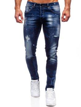 Tmavě modré pánské džíny regular fit Bolf 9257