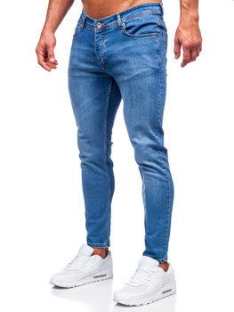 Tmavě modré pánské džíny slim fit Bolf R922