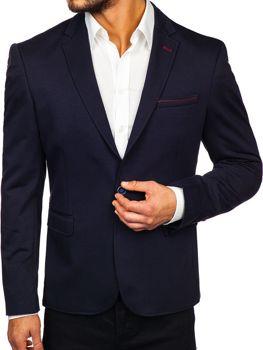 Tmavě modré pánské elegantní sako Bolf RBR406