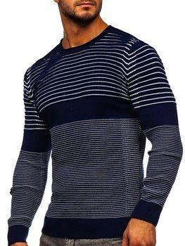 Tmavě modrý pánský svetr Bolf 1014