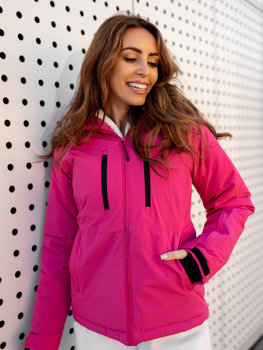 Tmavě růžová dámská zimní lyžařská bunda Bolf HH012