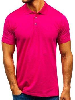 Tmavě růžová pánská polokošile Bolf 9025