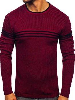 Vínový pánský svetr Bolf 0001