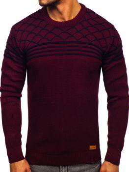Vínový pánský svetr Bolf 3017