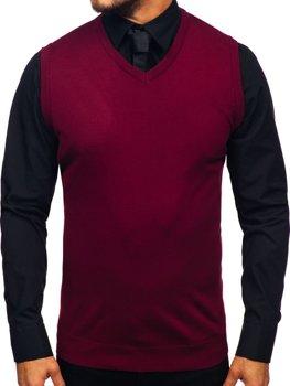 Vínový pánský svetr bez rukávů Bolf 2500