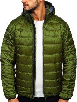 Zelená pánská prošívaná zimní sportovní bunda Bolf BK111
