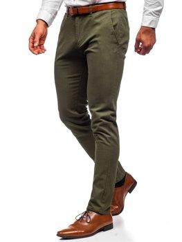 Zelené pánské chino kalhoty Bolf 1143