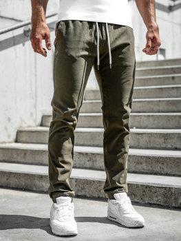 Zelené pánské jogger kalhoty Bolf 1145