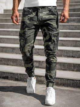 Zelené pánské jogger kapsáče s páskem Bolf CT6013