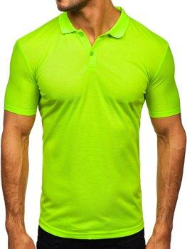 Zeleno-neonová pánská polokošile Bolf GD02