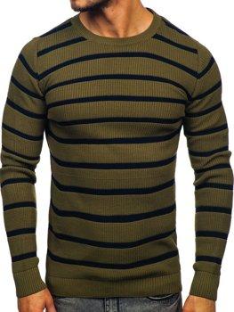 Zelený pánský svetr Bolf 4356