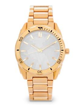 Zlaté pánské ocelové hodinky Bolf 5690-1