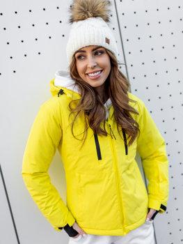 Žlutá dámská zimní lyžařská bunda Bolf HH012