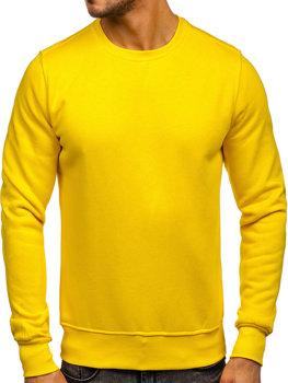 Žlutá pánská mikina bez kapuce Bolf 2001