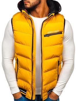 Žlutá pánská vesta s kapucí Bolf 5805