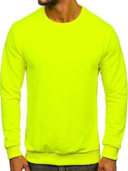 Žluto-neonová pánská mikina bez kapuce Bolf 171715