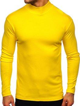 Žlutý pánský rolák bez potisku Bolf 145348