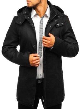 Černý pánský zimní kabát Bolf 5440