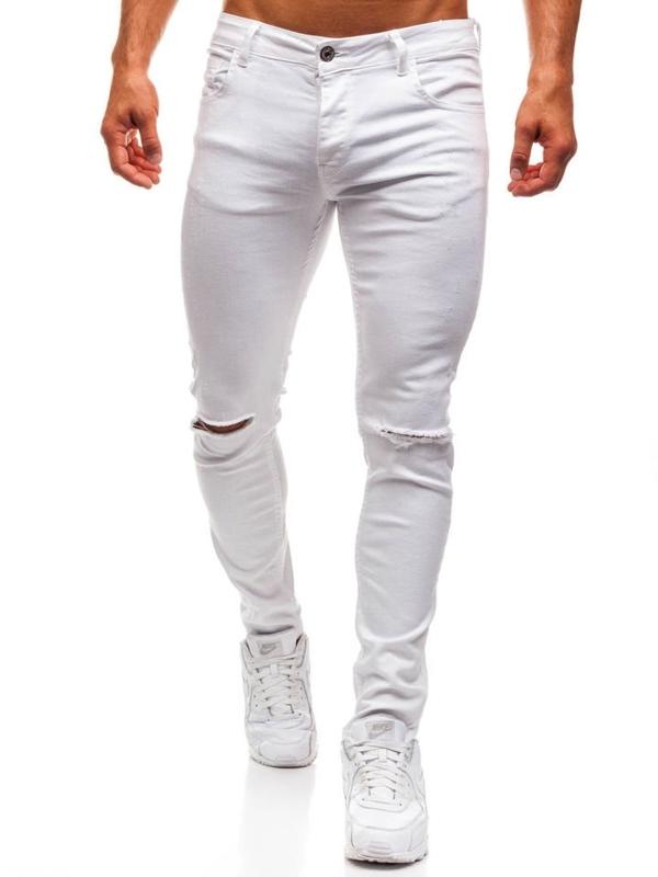 Bílé pánské džíny Bolf 8021
