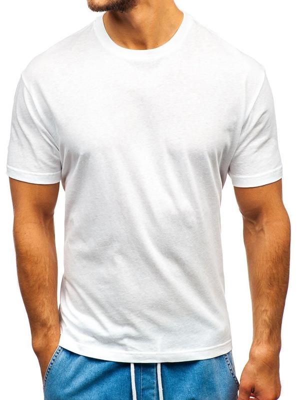 Bílé pánské tričko bez potisku Bolf T1427