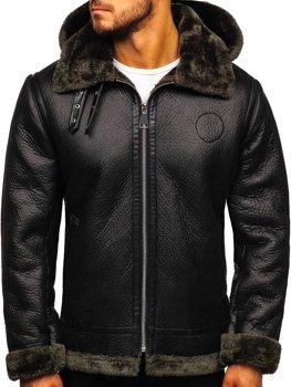 Černá pánská kožešinová bunda Bolf 88197