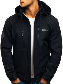 Černá pánská softshellová bunda Bolf 2139