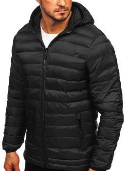 Černá pánská sportovní zimní bunda Bolf SM72