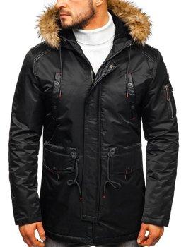 Černá pánská zimní bunda Bolf 1080