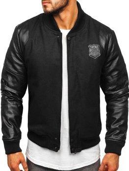 Černá pánská zimní bunda Bolf 3324