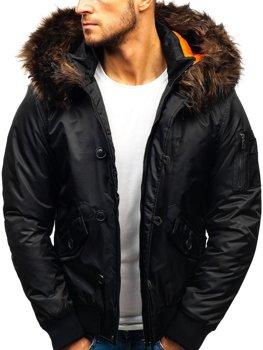 Černá pánská zimní bunda Bolf 99123