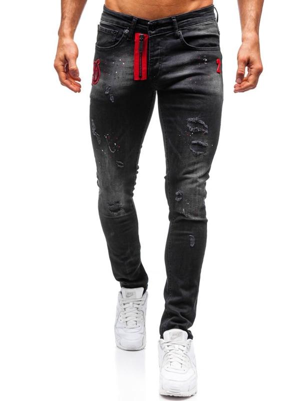 Černé pánské džíny Bolf 9239