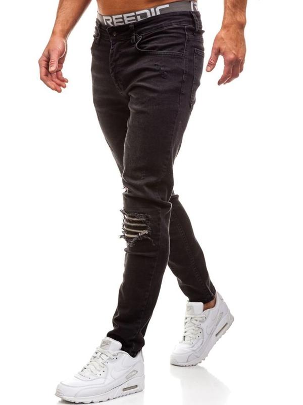 Černé pánské džíny Bolf AT002