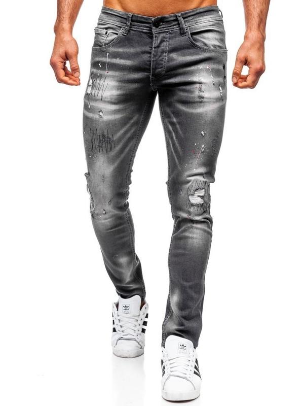Černé pánské džíny regular fit Bolf 4005