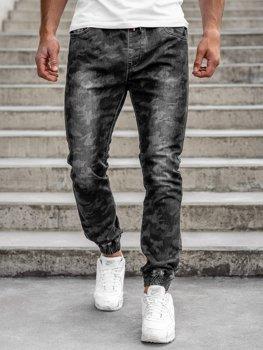Černé pánské jogger kalhoty Bolf RB9486DT