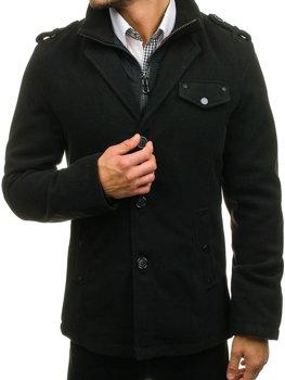Černý pánský kabát Bolf 8853A