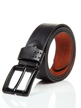 Černý pánský kožený opásek Bolf P011