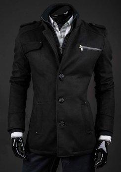 Černý pánský zimní kabát Bolf 8856A
