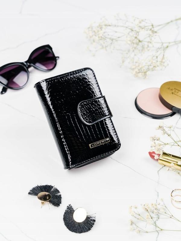 Dámská černá kožená peněženka 2088