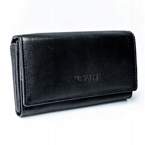 Dámská černá kožená peněženka 2775