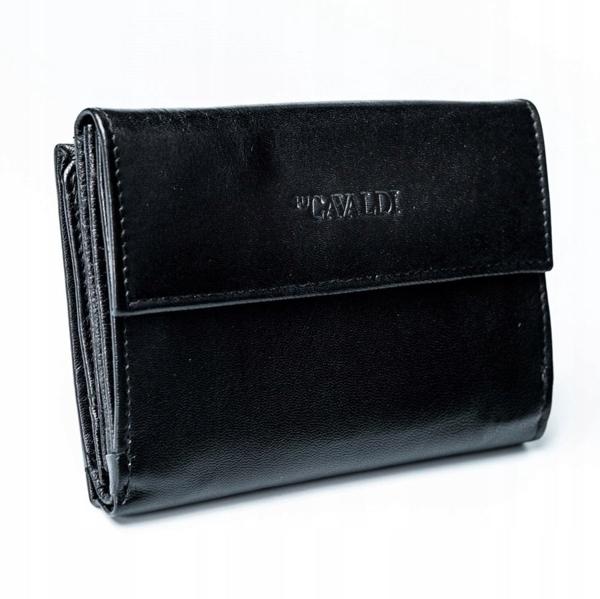 Dámská černá kožená peněženka 2779