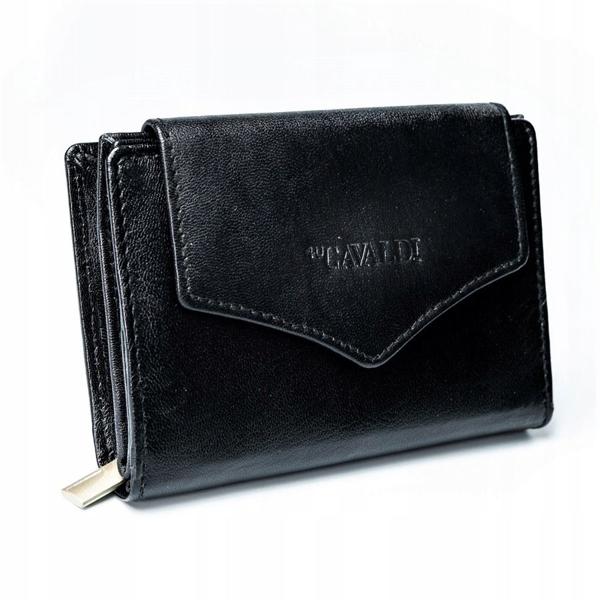Dámská černá kožená peněženka 2781