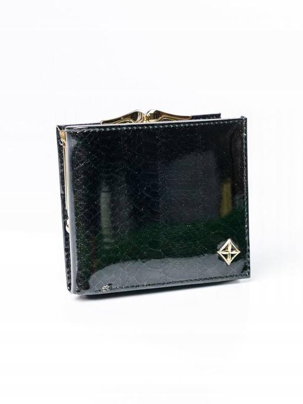 Dámská černá koženková peněženka 3006