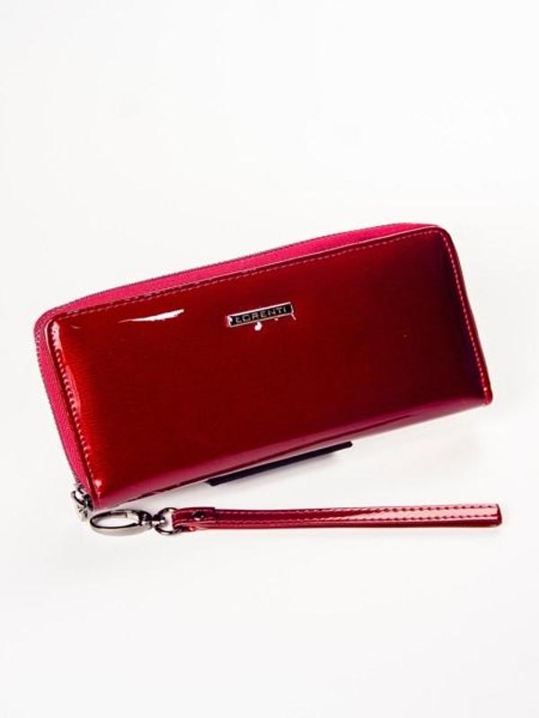 Dámská červená kožená peněženka 1209