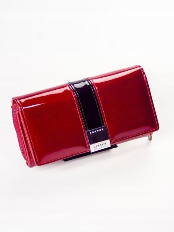 Dámská červená kožená peněženka 1212