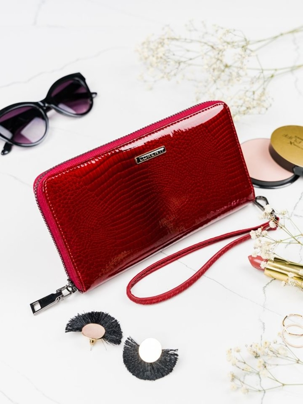 Dámská červená kožená peněženka 2084