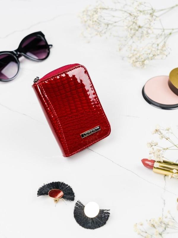 Dámská červená kožená peněženka 2109